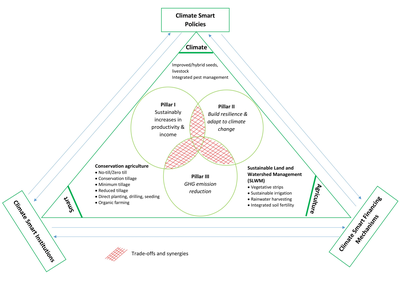 Concept of CSA as triangle